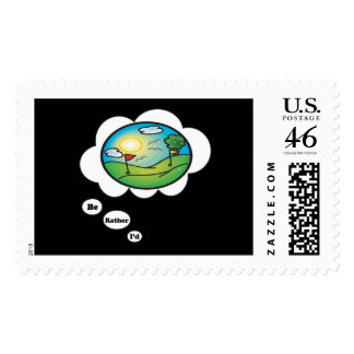 I d rather be Golfing Postage Stamps