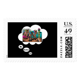 I d rather be Horse Racing 2 Stamps