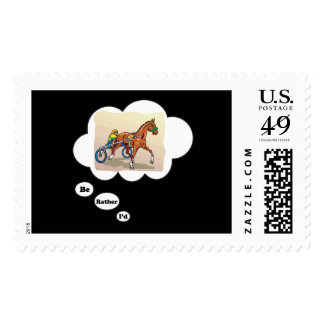 I d rather be Horse Racing Stamp