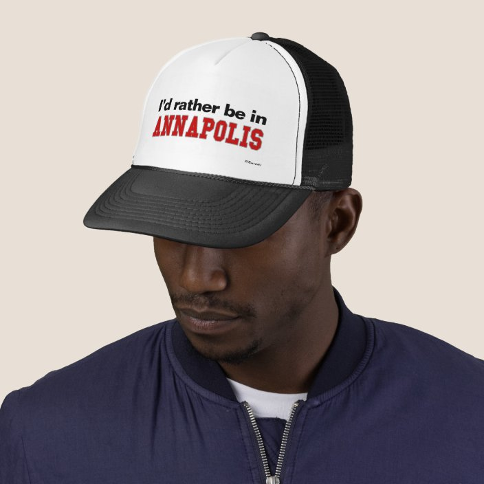 I'd Rather Be In Annapolis Mesh Hat