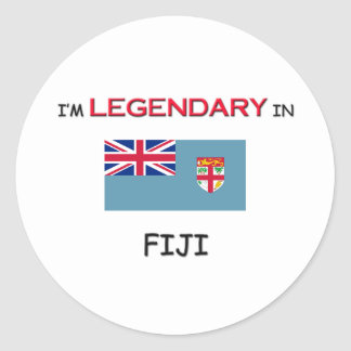 I d Rather Be In FIJI Round Stickers