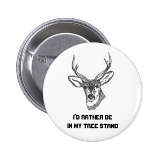 I'd Rather be in my Tree Stand Pinback Button