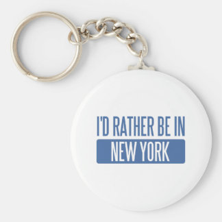 I d rather be in New York Keychains