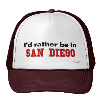 I d Rather Be In San Diego Mesh Hat