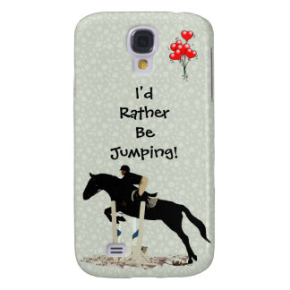 I d Rather Be Jumping Horse Galaxy S4 Cases