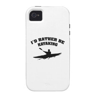 I d Rather Be Kayaking Vibe iPhone 4 Cases