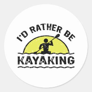 I d rather be Kayaking Sticker