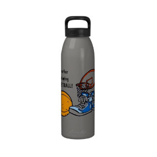 I d rather be playing BASKETBALL Water Bottle