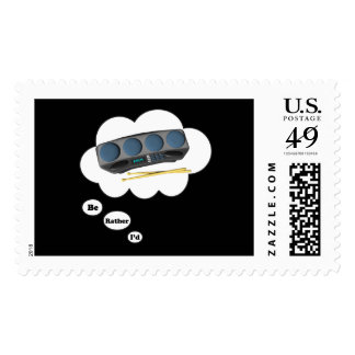 i d rather be playing Drum Machines Postage Stamps