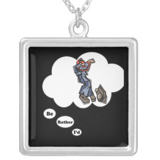 i d rather be playing HipHop Personalized Necklace