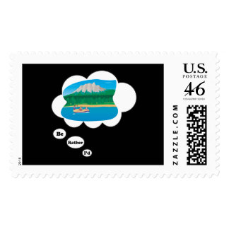 I d rather be Rafting 3 Postage Stamps