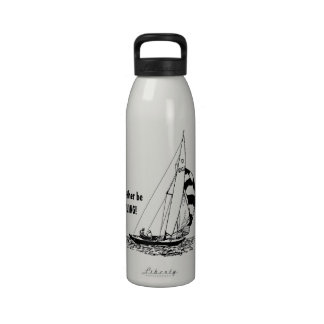 I d rather be SAILING Water Bottle