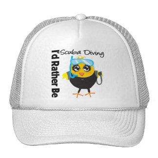 I d Rather Be Scuba Diving Trucker Hat