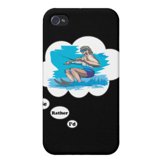 I d rather be Water Skiing iPhone 4 Covers