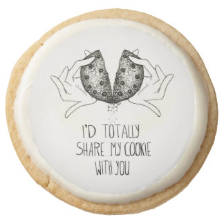 I d tottaly share my cookie with you! round premium shortbread cookie