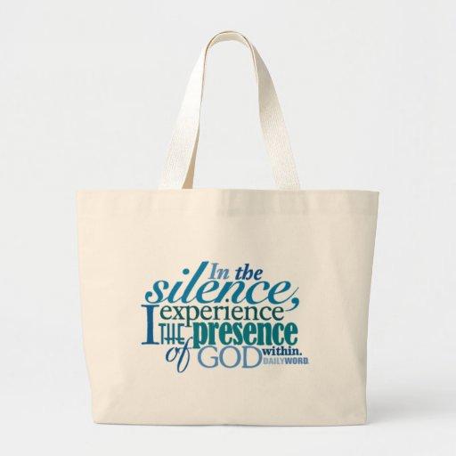 "<i>Daily Word®</i> ""Silence"" Canvas Bag"