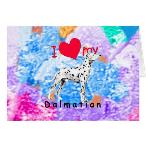 I Dalmatian del corazón Tarjeta De Felicitación