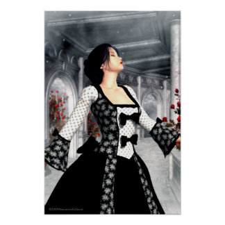 I Dance Alone Gothic Romance Art Poster