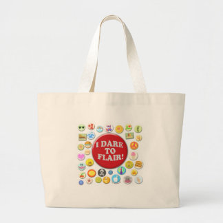 I Dare To Flair Large Tote Bag