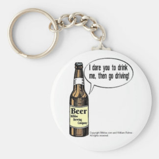 I dare you to drink me basic round button keychain