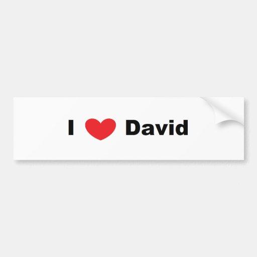 I ♥ David Bumper Sticker