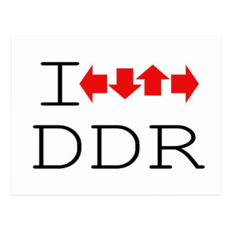 I DDR POSTCARD