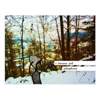 i de imitación y polyphony tarjetas postales