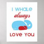 I de la ballena amor siempre que usted imprime o p