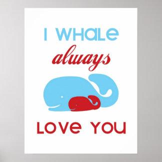I de la ballena amor siempre que usted imprime o p posters