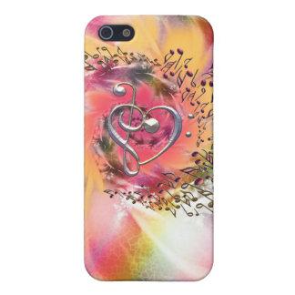 I ~ de la música del corazón en un remolino glorio iPhone 5 cárcasas