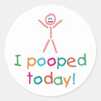 I de Pooped diversión hoy Pegatinas Redondas
