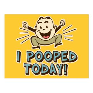 I de Pooped humor divertido del retrete hoy Tarjeta Postal