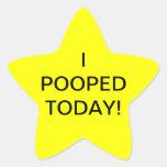 I de POOPED pegatinas de la estrella HOY -