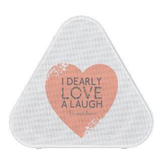 I Dearly Love A Laugh - Jane Austen Quote Bluetooth Speaker