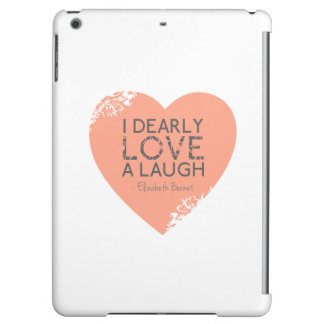 I Dearly Love A Laugh - Jane Austen Quote Case For iPad Air
