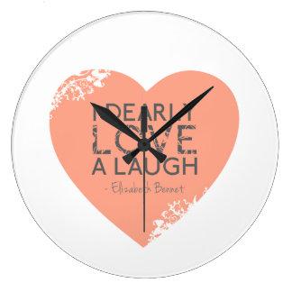 I Dearly Love A Laugh - Jane Austen Quote Wall Clock