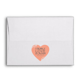 I Dearly Love A Laugh - Jane Austen Quote Envelope