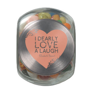 I Dearly Love A Laugh - Jane Austen Quote Glass Candy Jar