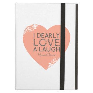 I Dearly Love A Laugh - Jane Austen Quote iPad Air Case