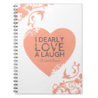 I Dearly Love A Laugh - Jane Austen Quote Notebook