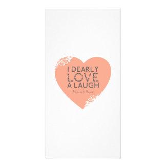 I Dearly Love A Laugh - Jane Austen Quote Photo Card