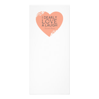 I Dearly Love A Laugh - Jane Austen Quote Rack Card