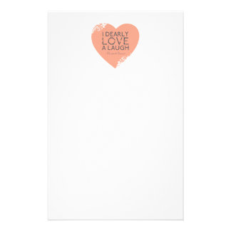 I Dearly Love A Laugh - Jane Austen Quote Stationery