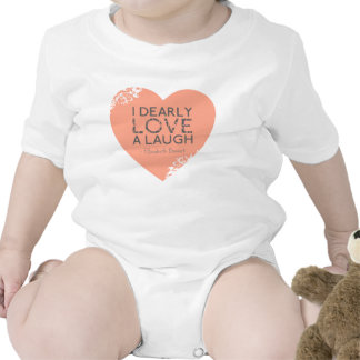 I Dearly Love A Laugh - Jane Austen Quote Bodysuits