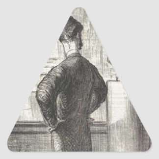 I definitely like him by Honore Daumier Triangle Sticker
