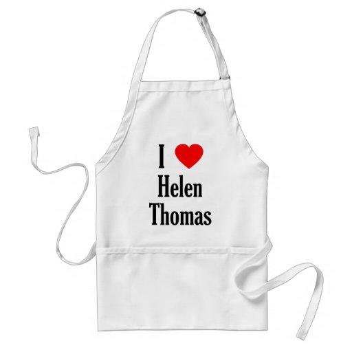 I delantal de Helen Thomas del corazón