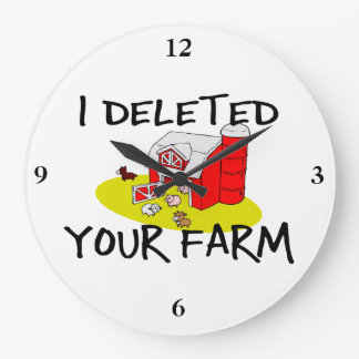 I Deleted Your Farm Clocks