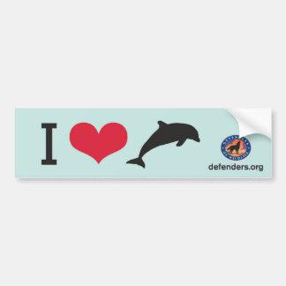 I delfínes del corazón pegatina de parachoque