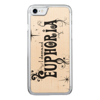 I Demand Euphoria - Black Swirls, Stars, Fireworks Carved iPhone 8/7 Case