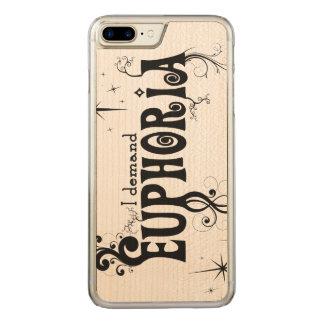 I Demand Euphoria - Black Swirls, Stars, Fireworks Carved iPhone 8 Plus/7 Plus Case